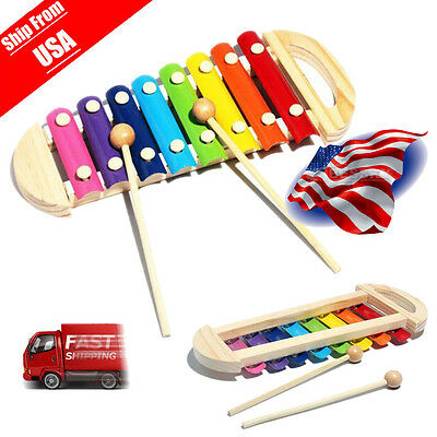 New Baby Kids Musical Toys Xylophone Wisdom Development Instrument Wooden Toys