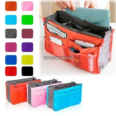 New Women Travel Insert Handbag Organiser Purse Large liner Organizer Tidy ED02