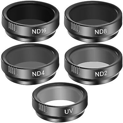 Neewer 5 Pieces Cinematic Filter Set UV ND2 ND4 ND8 ND16 for GoPro Hero 4 3+
