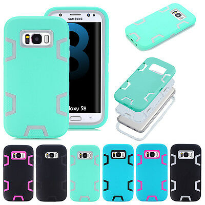 For Samsung Galaxy S8/S8 Plus Case Shockproof Hybrid Rubber Hard Case Cover