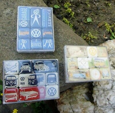 German VW SERVICE VOLKSWAGEN CAMPER BUS BEETLE - 27 Magnets Magnet SET B