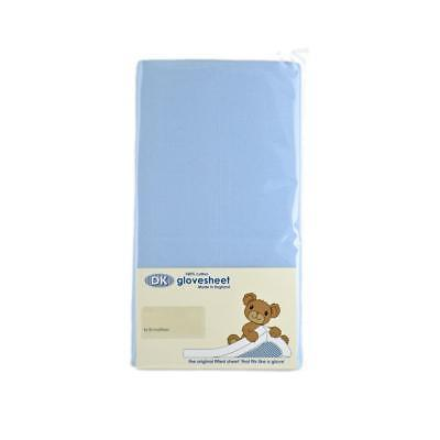 Original DK Glovesheet Large Moses Basket Fitted Sheet (Sky)