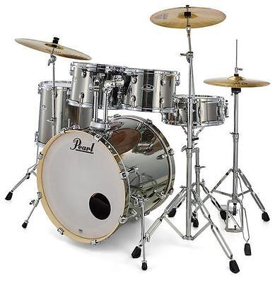 "Pearl Export EXX725BR/C21 Schlagzeug Drumset 22"" Bass Drum Becken Hardware Set"