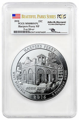 Harpers Ferry 5 oz Silver ATB Beautiful Parks PCGS MS69 DMPL Mercanti SKU46315