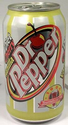 FULL NEW American Can Limited Edition Diet Dr. Pepper Cherry Vanilla USA 2005