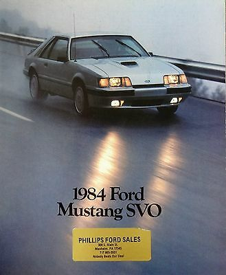 1984 Ford Mustang SVO Sales Brochure