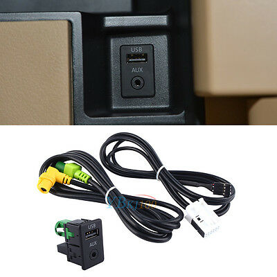 AUX USB Switch Cable For RCD510 RCD310 RNS315 VW Passat B6 B7 CC MK6 GOLF JETTA