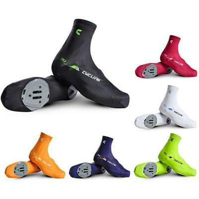 CheJI Bicycle Breathable Shoe Covers Bike Cycling Overshoes Zippered Windproof