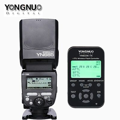 YONGNUO TTL YN685 Flash Speedlite + YN622N-TX Flash Kit controller For Nikon AU