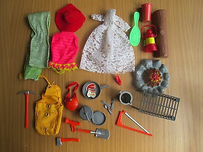 Vintage Barbie , Ken + Paul Clothes & Accessories  camp fire camping