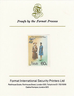 Nevis 3345 - 1985 GIRL GUIDES 60c on FORMAT  INTERNATIONAL  PROOF  CARD
