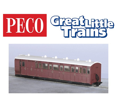 Peco GR-420U Brake Composite Coach Indian Red Unlettered OO-9 Gauge