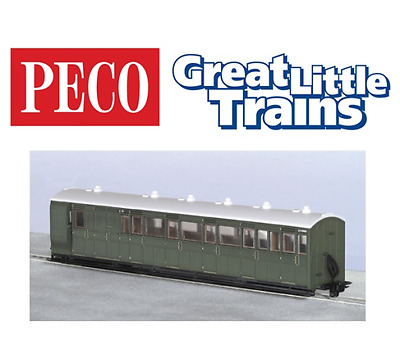 Peco GR-421U Brake Composite Coach Green Unlettered OO-9 Gauge