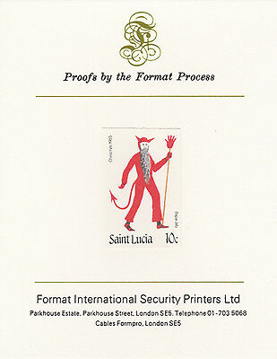 St Lucia 3348 - 1985 Christmas 10c on FORMAT  INTERNATIONAL  PROOF  CARD