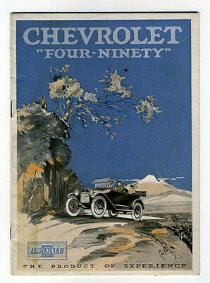 """THE CHEVROLET """"FOUR-NINETY""""  THE PRODUCT OF EXPERIENCE 1916? Sales Catalogue"""