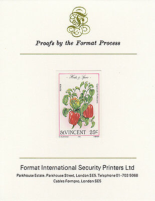 St Vincent 3366 - 1985 Herbs & Spices 25c on FORMAT  INTERNATIONAL  PROOF  CARD