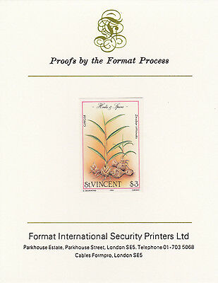 St Vincent 3369 - 1985 Herbs & Spices $3 on FORMAT  INTERNATIONAL  PROOF  CARD