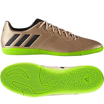adidas 17.3 IN Messi 2017 Indoor Soccer Shoes Copper - Green - Black Brand New