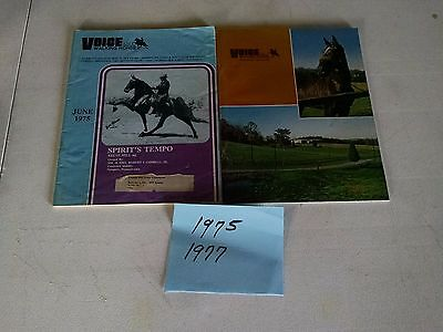 Vintage 1975 & 1977  Voice of The Tennessee Walking Horse  Magazine
