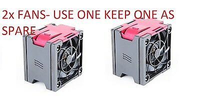 2x HP ORIGINAL FAN 662520-001 FOR HP PROLIANT DL380P G8 , DL380E G8 ,DL385P G8