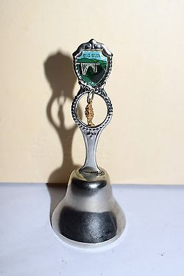 Estate Souvenir Bell from Big Sur CA  High Polished Silver Metal Silver Bell