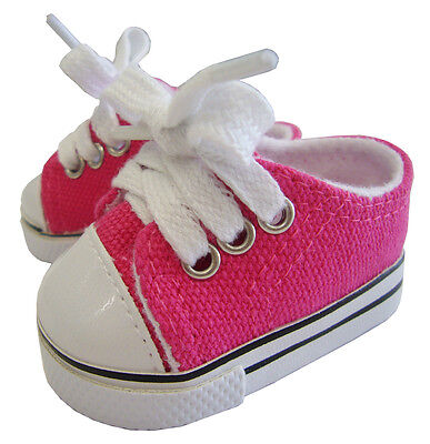Doll Clothes fits American Girl Hot Pink Canvas Sneakers Gym Shoes Accessory
