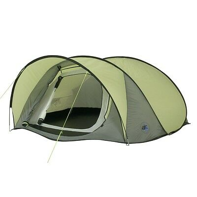 10T Maxi Pop 3 - 3-person pop-up tent with canopy, outer tent with sleep compart