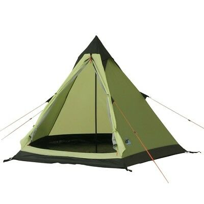 10T Comanche 300 - 2-person teepee tent, pyramid tent, sewn in ground sheet, WS=