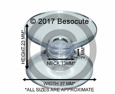 NEW Packet of 4 x ( 37mm Double Sided Suction Cups ) Suckers for Glass
