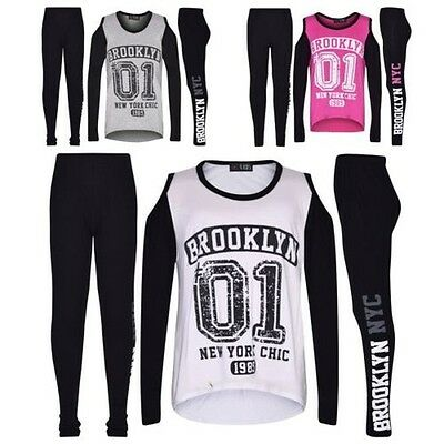 2d40bb088e7cf Haut Fille Enfants Brooklyn  01 Imprimé T-Shirt   Mode Ensemble Legging 7-