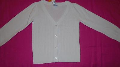 NEW Girls Size XS 4 Gymboree Cardigan Sweater White V-Neck Cable Knit RP$29 NWT