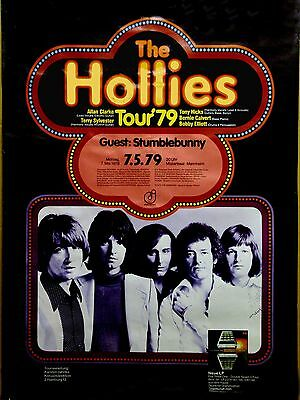 """The Hollies German 1979  16"""" x 12"""" Photo Repro Concert Poster"""