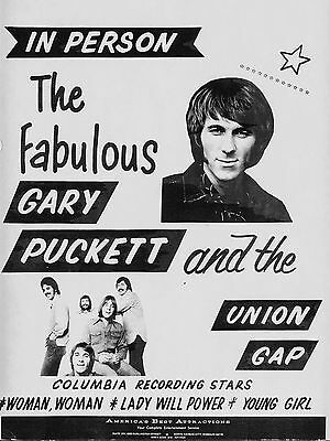 """Gary Puckett and the Union Gap 16"""" x 12"""" Photo Repro Concert Poster"""