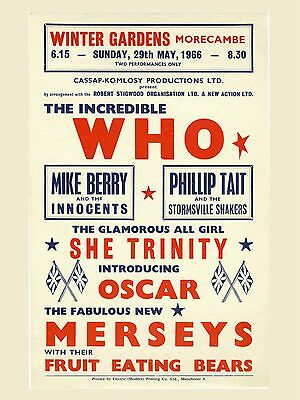 "The Who Morecambe 16"" x 12"" Photo Repro Concert Poster"