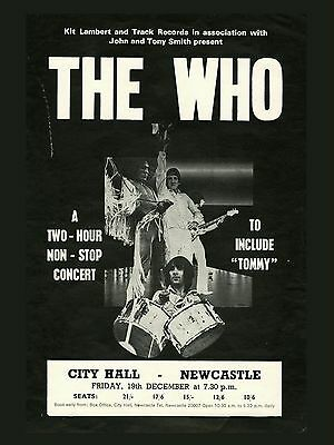 "The Who Newcastle 16"" x 12"" Photo Repro Concert Poster"