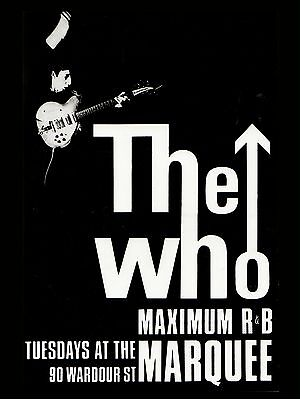 "The Who Marquee 16"" x 12"" Photo Repro Concert Poster"
