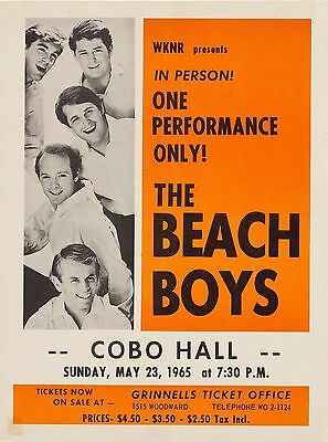 "The Beach Boys Cobo 1965 16"" x 12"" Photo Repro Concert Poster"