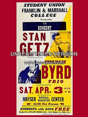 """Stan Getz / Charlie Byrd 16"""" x 12"""" Photo Repro Concert Poster"""