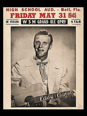 """Eddy Arnold Grand old opry 16"""" x 12"""" Photo Repro Concert Poster"""