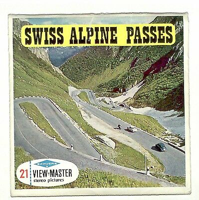 vintage SAWYERS View Master SWISS ALPINE PASSES foreign MADE IN BELGIUM C127 old