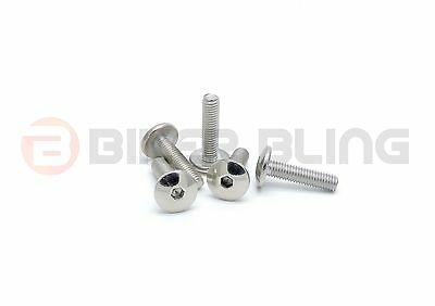 10x KTM M5x25 stainless steel motorcycle fairing panel cover fender bolts
