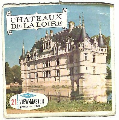 vintage SAWYERS View Master CHATEUAX DE LA LOIRE foreign MADE IN BELGIUM france!