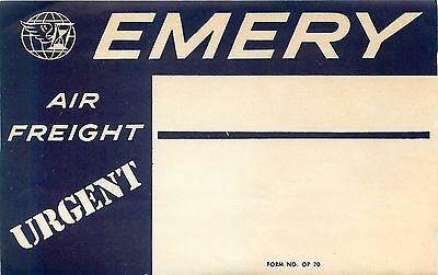 Emery Air Freight Vintage Airline Luggage Mailing Shipping Label