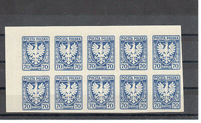 Poland, 1919 issue bl of 10 MNH, **, VF exp. A.Sader