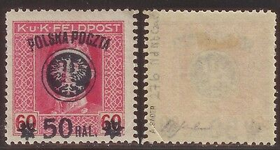 Poland 1919 Fi # 27b Nd Nb.Czar. MH,*,VF exp. A.Sader