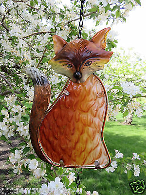 FOX Wind Chime FUSION GLASS METAL BELL  garden decor 6.5x1.6x19.7(in) YARD DECOR