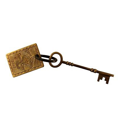 old west hotel whore house BROTHEL ROOM SKELETON KEY solid brass tag keyring fob