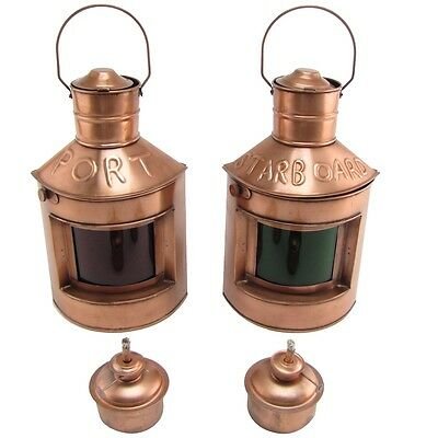 Port Starboard Lamp Set Oil Lamps Lights Ship Lantern Ships Light Maritime Decor
