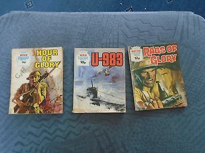 3 x  vintage War Picture library magazines  1184 1225 775