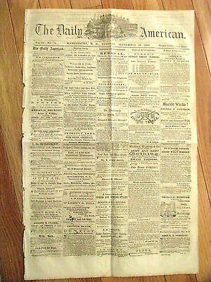 Civil War Maryland Battle Of South Mountain & Boonsboro  Newspaper